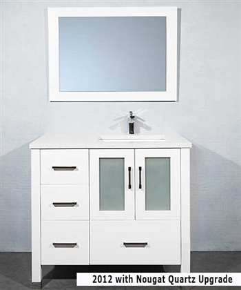 36 Inch Vanity With Sink Offset On Right