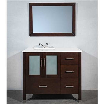 41 inch bath vanity with offset sink | modernbathrooms.ca