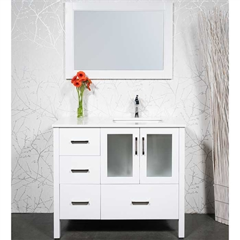 41 inch bathroom vanity sink offset on the right - Bathroom vanity with right offset sink ...
