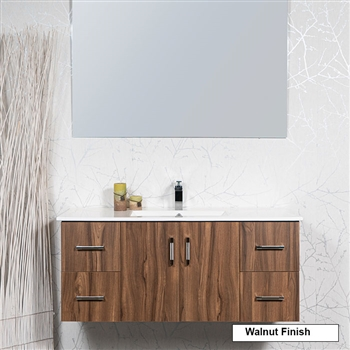 modern style 48 inch floating vanity set. Black Bedroom Furniture Sets. Home Design Ideas