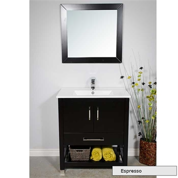 Small 32 inch pre made bath vanity for Premade bathroom vanities