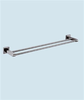 bathroom accessories double bar towel rack