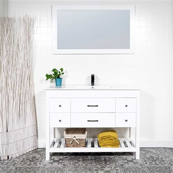Vanity Set From Modernbathrooms Ca, What Size Mirror For A 48 Vanity